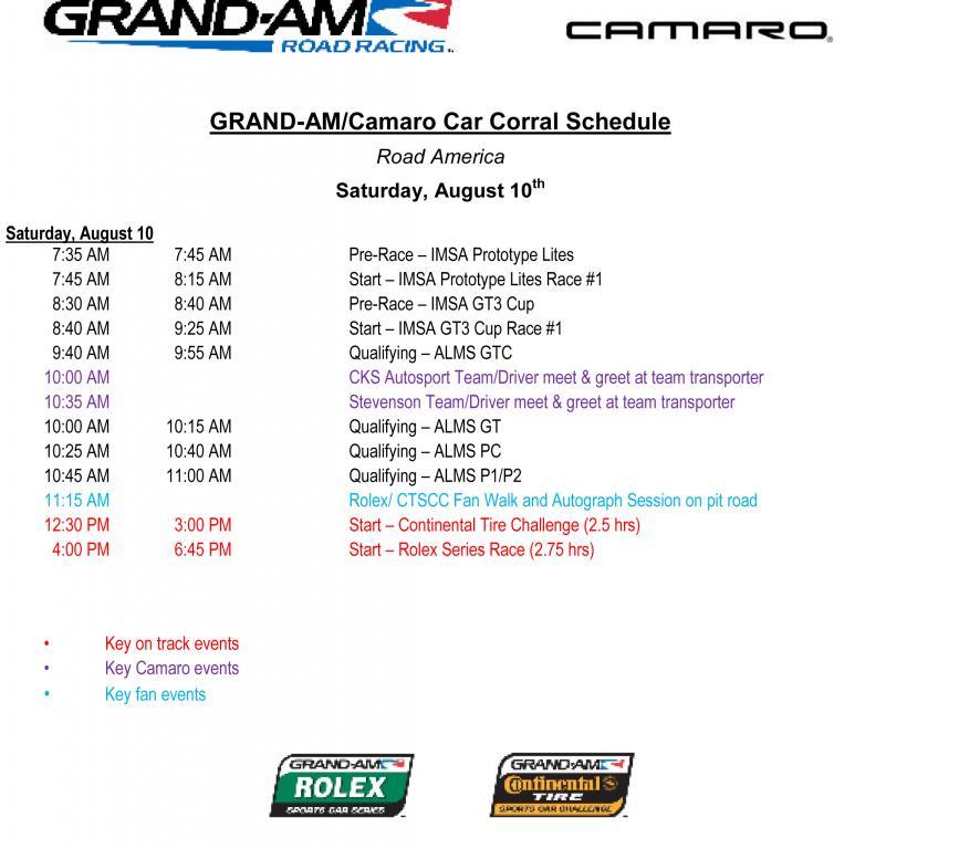 CAMARO CORRAL ROAD AMERICA AUG 10-11 GRAND AM / ALMS WEEKEND-2013-ra-camaro-corral-schedule-copy.jpg