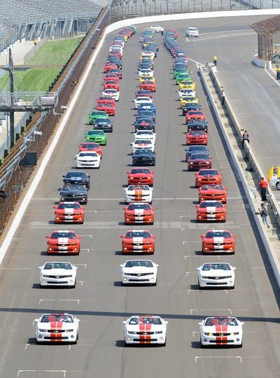 Camaro Day at IMS-lined-up-courtesy-indpls-star-news-jpg