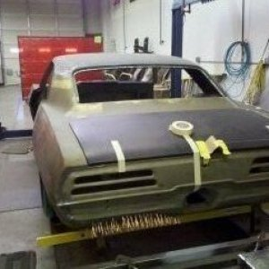 One of our current projects. 1969 Firebird, Pro touring Restoration in progress. Quarter Mile Muscle (704)664-9544