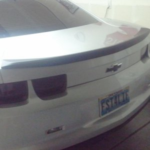 Plasti dipped wing, and taillight bizels. I also tinted the tail lights. Looks way better!