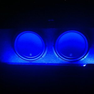 "2 12"" JL Audio 12w3v3's, w/2 Alpine MRX-M50 500w amps Custom Box by Sub Thump. Installed by myself"